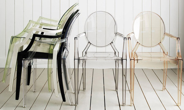 Sedia louis victoria lou lou ghost kartell by philippe for Sedia design faccia