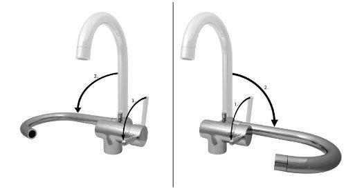 Miscelatore rubinetto sottofinestra abbattibile - Rubinetto cucina pieghevole ...
