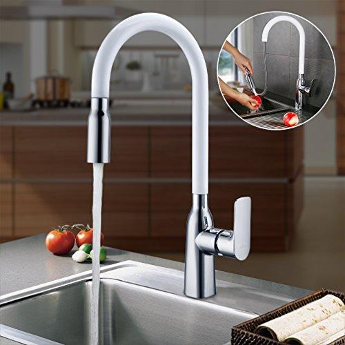 Miscelatori rubinetti colorati bianchi neri rossi oro x for Bricoman rubinetti cucina