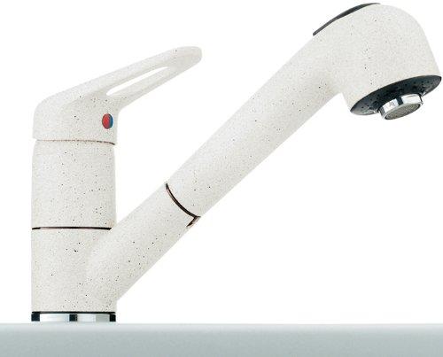 Franke 1150030731 - Miscelatore Monocomando 740 Per Lavello Cucina, Colore: Bianco Ghiaccio
