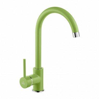 rubinetto miscelatore da cucina colore verde deante serie milin
