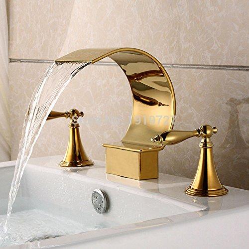 TougMoo Miscelatore Rubinetto a cascata oro bagno Acciaio Inossidabile