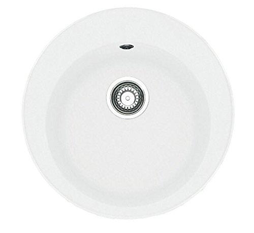 Franke Pamira ROG 610–41LAVELLO rotondo bianco lavello lavandino da cucina FRAGRANITE Glacier