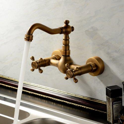 Hiendure® Miscelatore rubinetto in ottone cucina classico antico della cucina