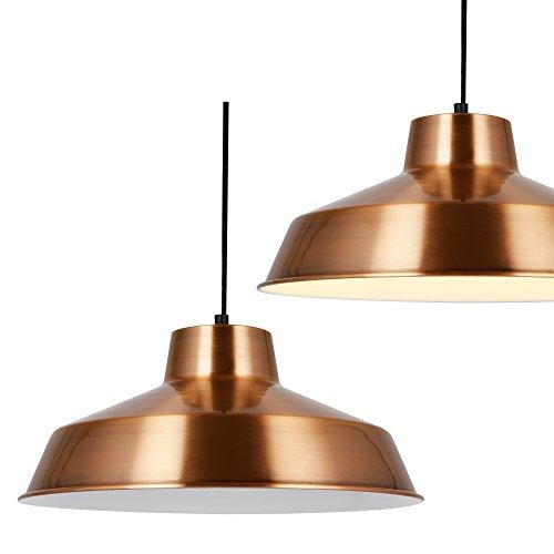 [lux.pro] Lampada a sospensione di design Lampada da soffitto Rame Metallo [Ø35cm] Lampada sospesa
