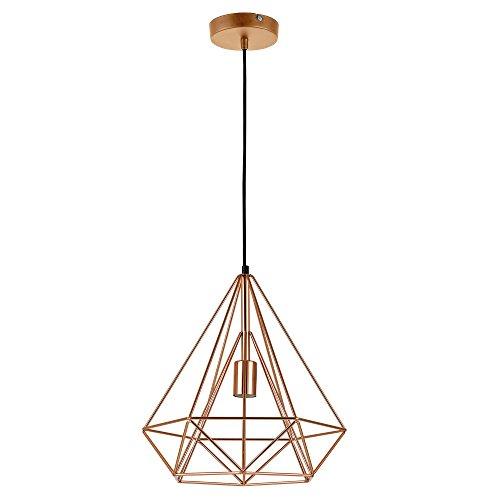 [lux.pro] LED Lampada da soffitto Industria - rame / lampadario (1 x E27 base)(37cm x Ø 40cm) Lampada da soffitto / Vintage / Retro Design / Industrial Design (rame)