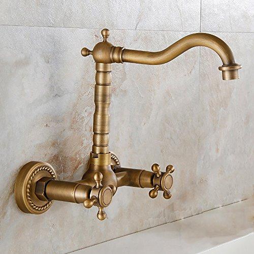 PIGE Il rubinetto pieno di vasca da bagno in rame antico nel muro può essere rotante Rubinetto rubinetto a bacino di acqua calda e fredda