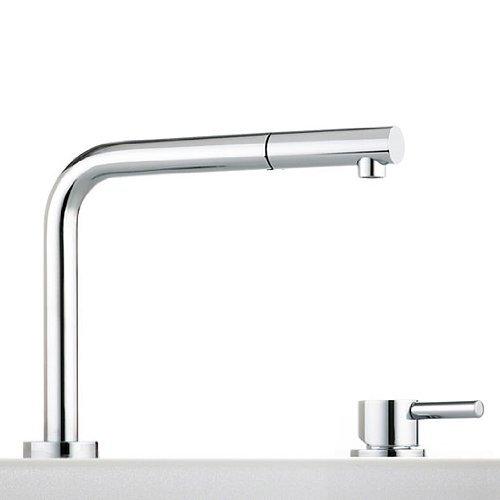 Miscelatore rubinetto sottofinestra abbattibile - Rubinetto cucina con doccetta estraibile ...