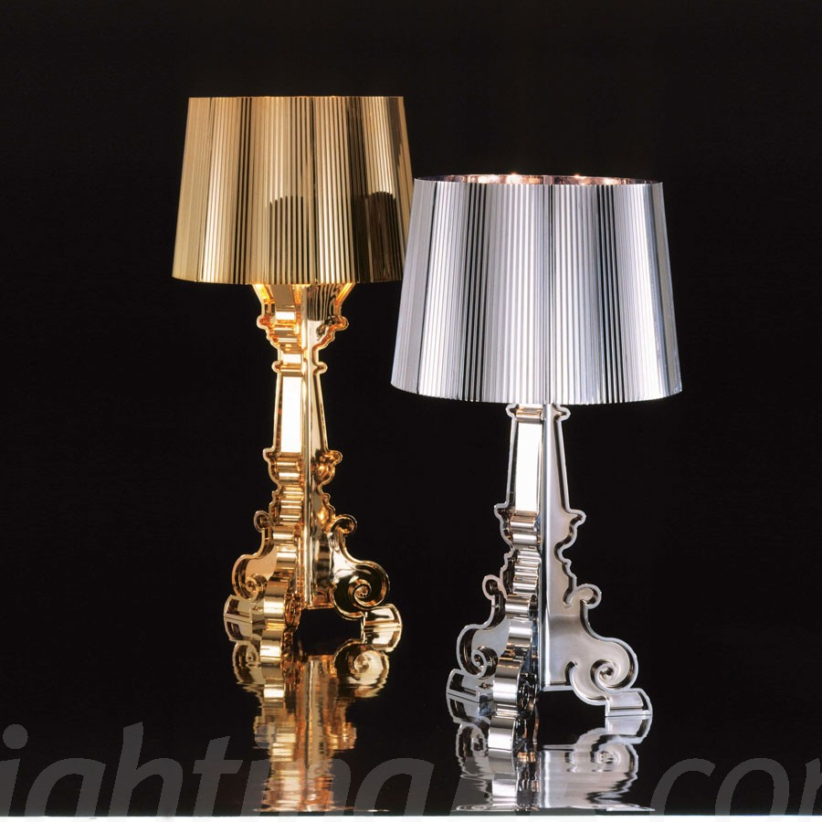 Bourgie Table Lamp by Kartell - Oro e Argento