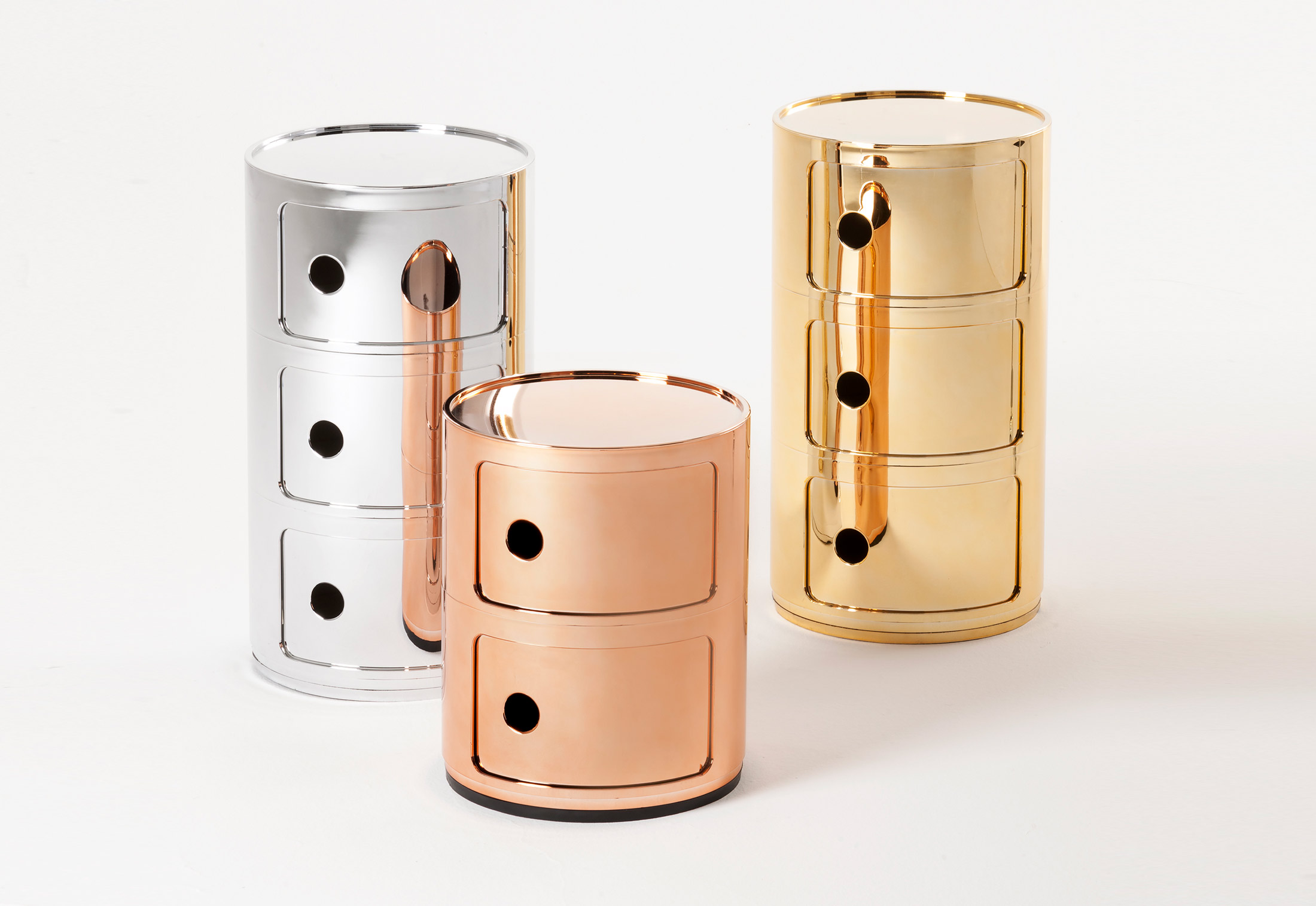 Componibili by Kartell Oro Argento Rame