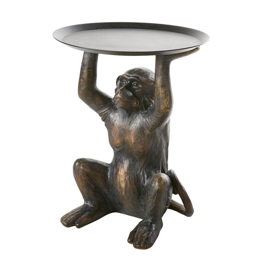 Tavolino da divano scimmia marrone